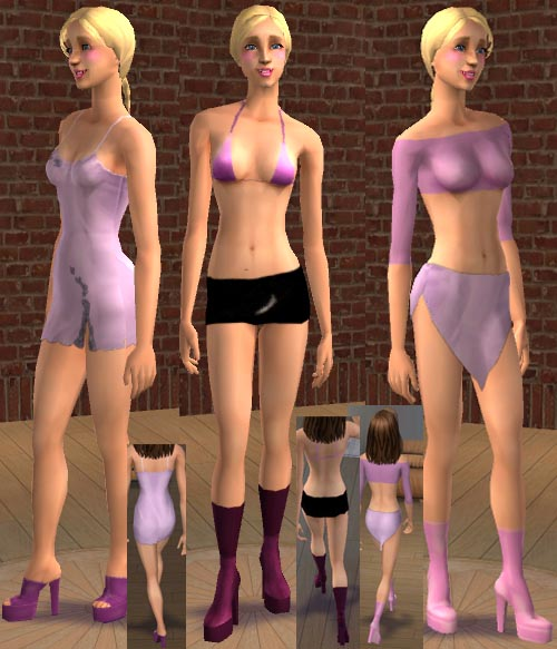 Mod The Sims - 3 Recolours of Marvines Alpha Skirt
