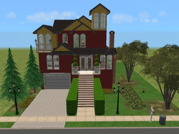 Mod the sims san francisco painted lady fully for Custom built victorian homes