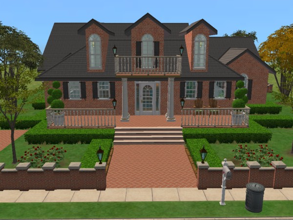 "mod the sims - ""colonial classical charm"" fully furnished no custom"