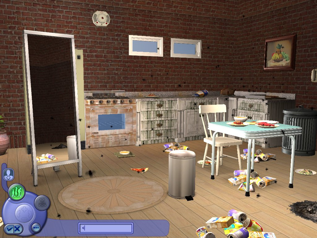 Mod The Sims - Dirty Kitchen CAS