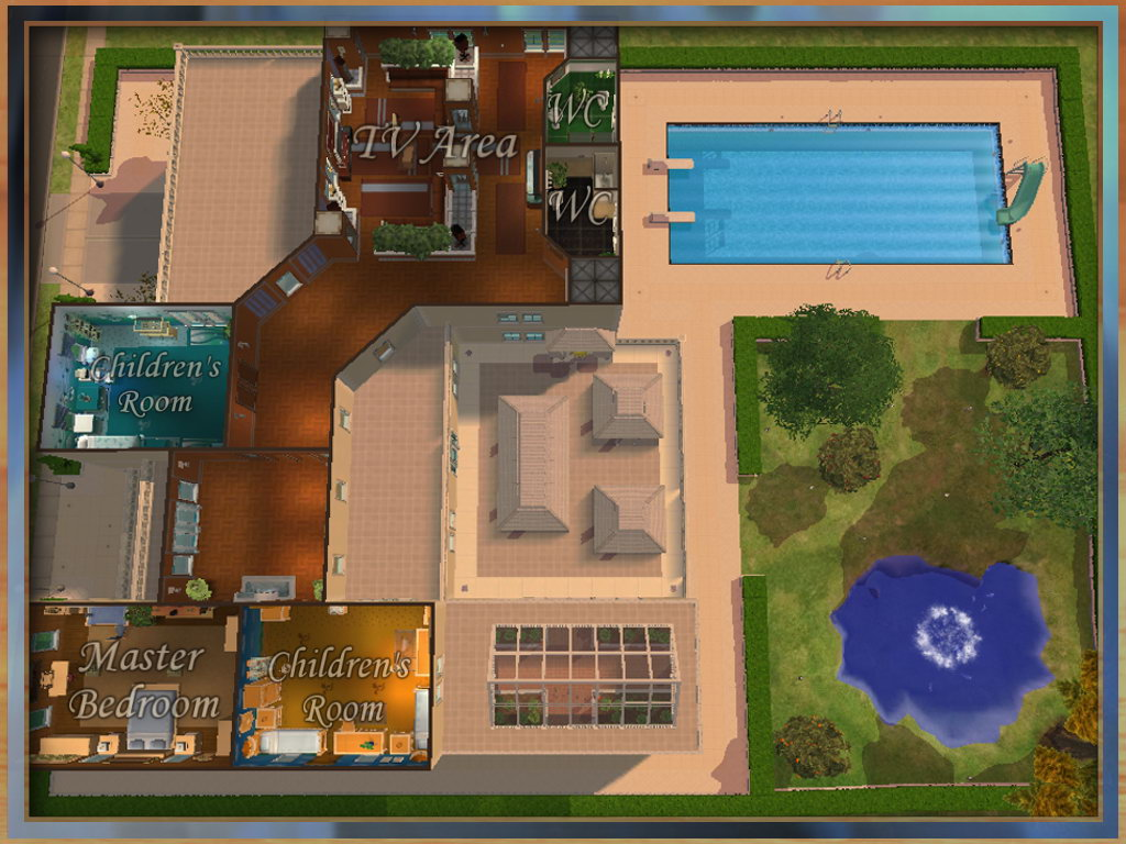 The sims floor plans for Sims 4 floor plans