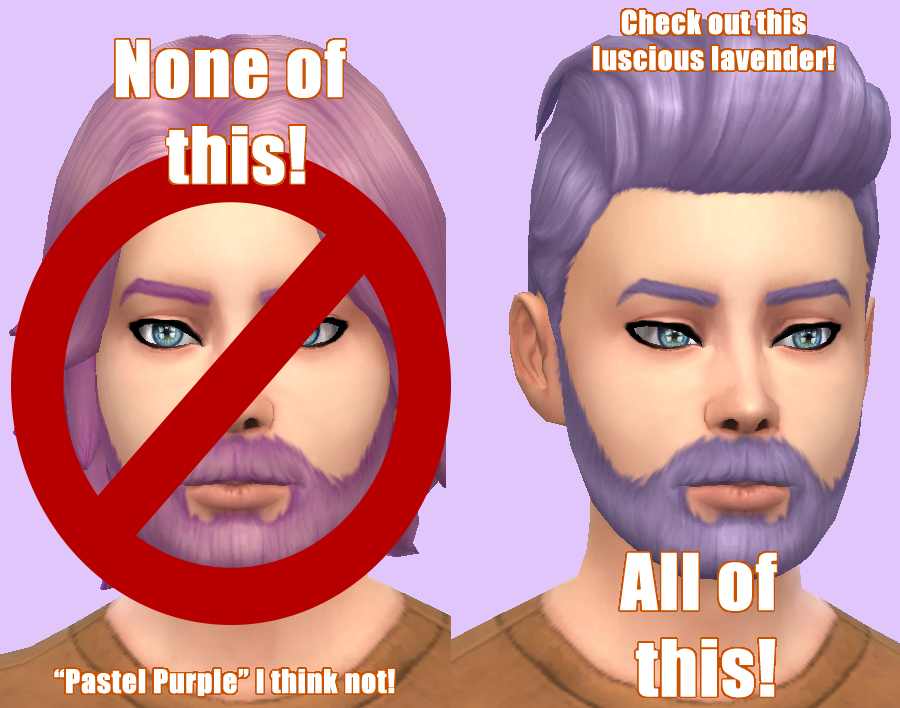 Mod The Sims Quot Pastel Purple Is Out Lavender Is In