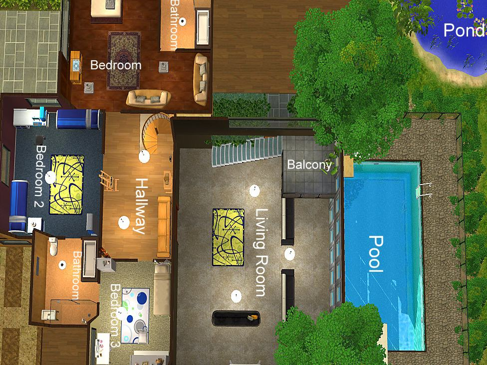 Mod the sims luxury in the lush the utimate modern for Huge house floor plans