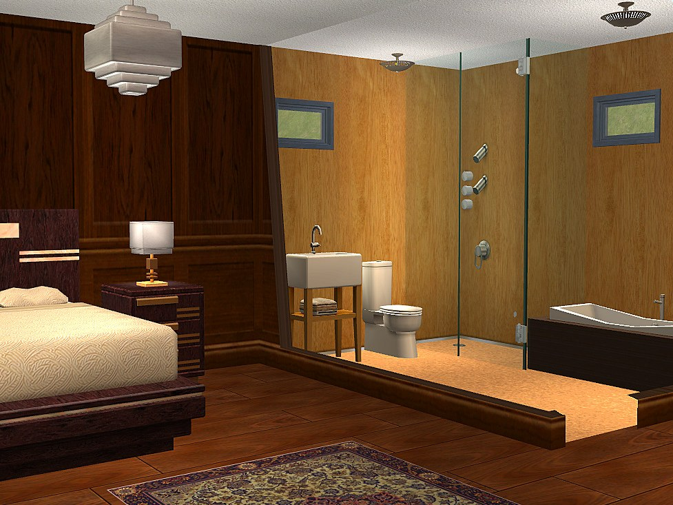 Master Bedroom With Bathroom Home Design Elements