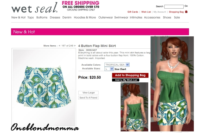 c38984c5fd Mod The Sims - Mod Abstract Skirt w Tube Top by Wet Seal (8 ...