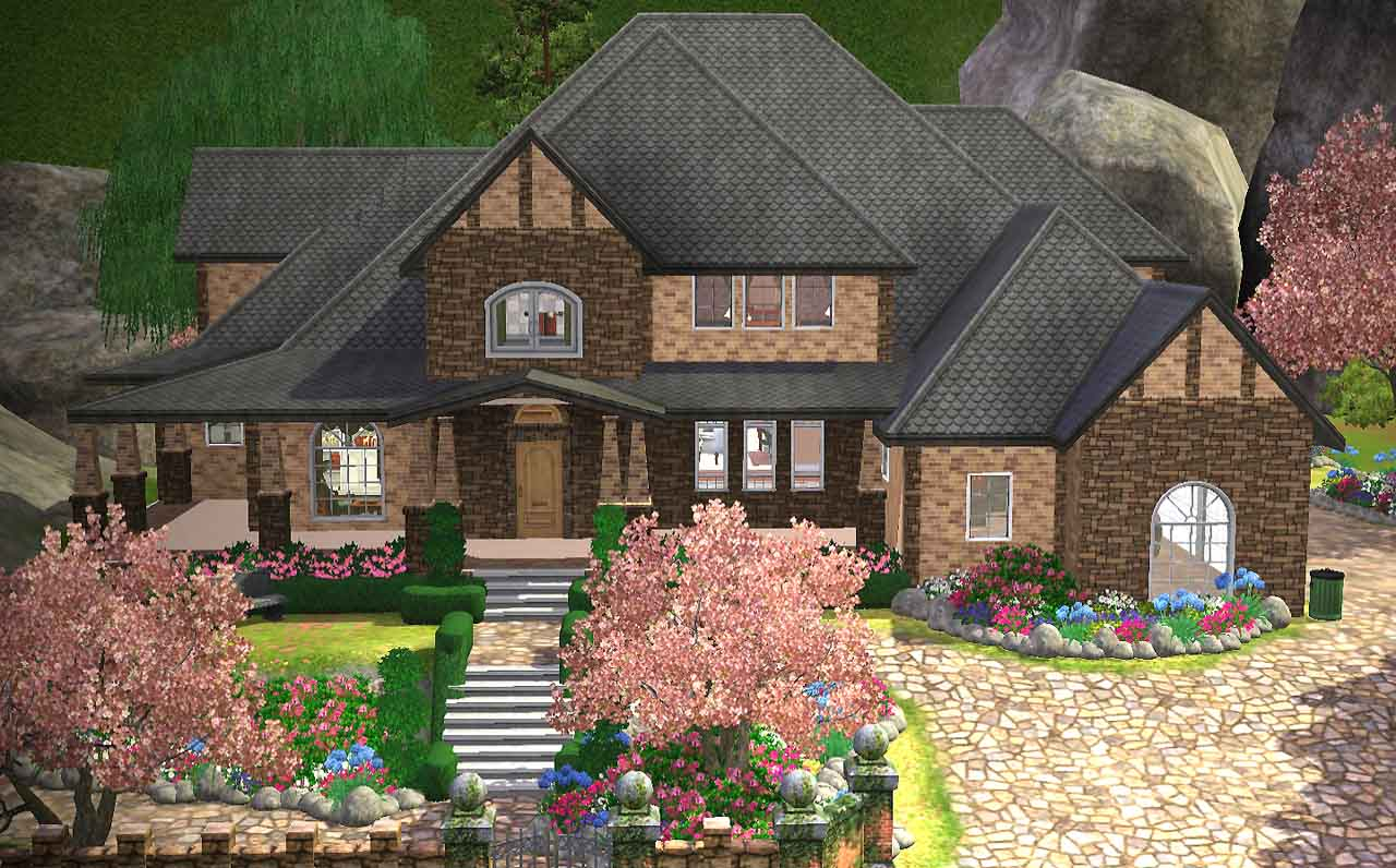 mod the sims charming american home with basement gazebo double