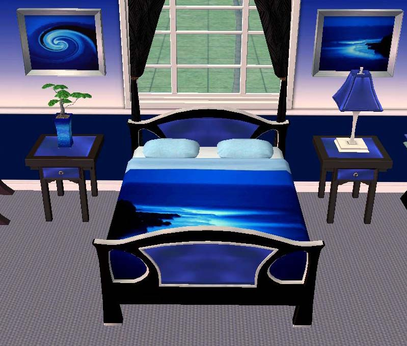 mod the sims testers wanted electric blue bedroom set plete
