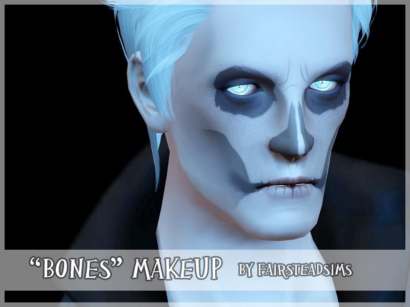 mod the sims 39 bones 39 skull makeup. Black Bedroom Furniture Sets. Home Design Ideas