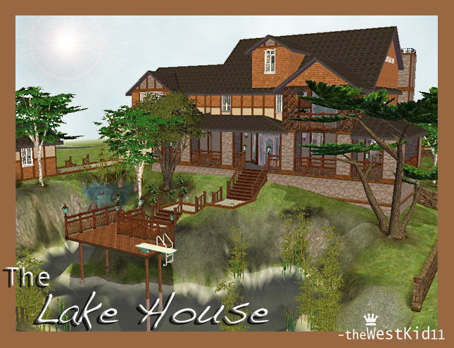 Mod the sims the lake house potter 39 s grove collection for 2 story lake house