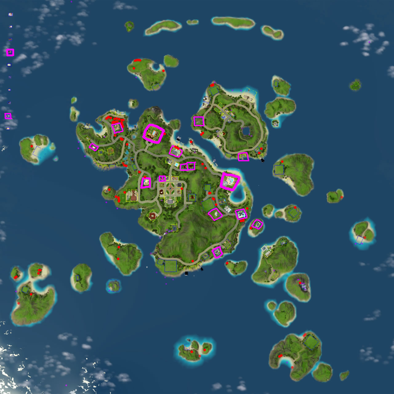 Sims Island Paradise Map