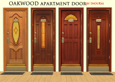 Four Oakwood Apartment doors & Mod The Sims - OAKWOOD Apartment door (#4) by InouKai pezcame.com