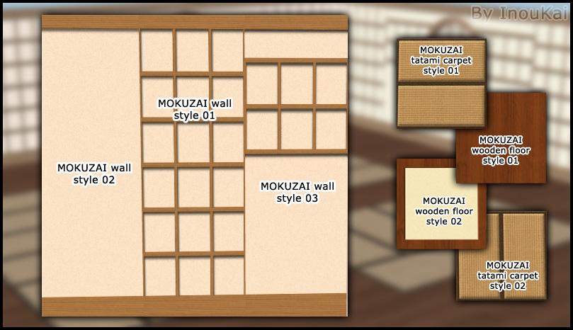 Mod The Sims Mokuzai Wall Amp Floor Set By Inoukai