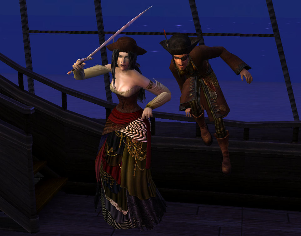 Mod The Sims Pirate King And Queen Clothing