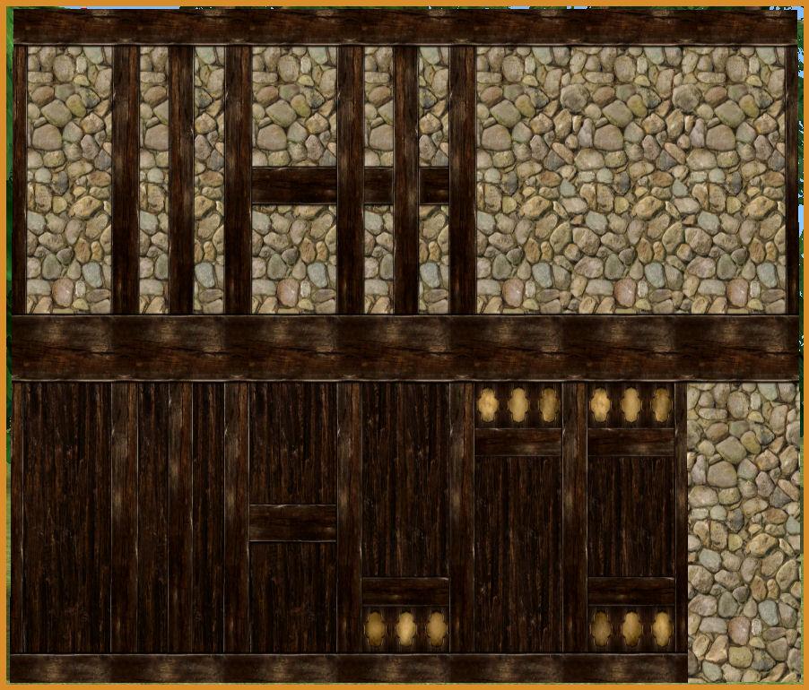Mod The Sims - Tudor Cottage Build Set