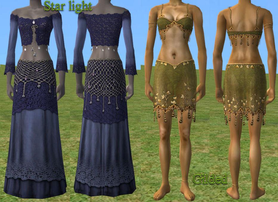 mod the sims   female fantasy clothing