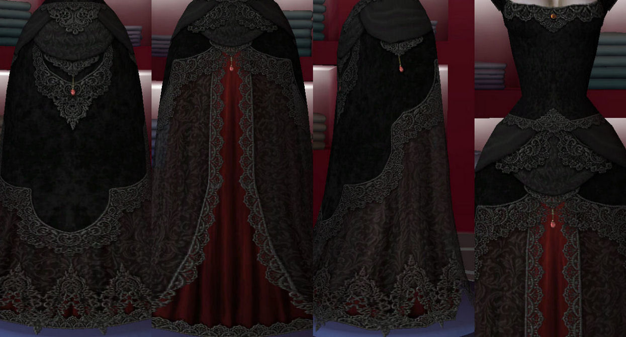 Mod The Sims - Gothic gown