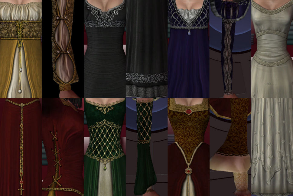 Mod The Sims - medieval and renaissance gowns