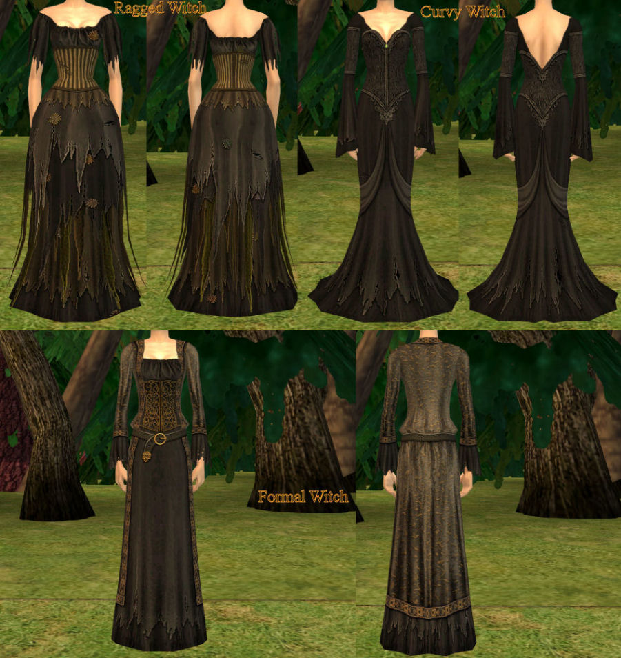 Mod The Sims More Witchy Women Clothing