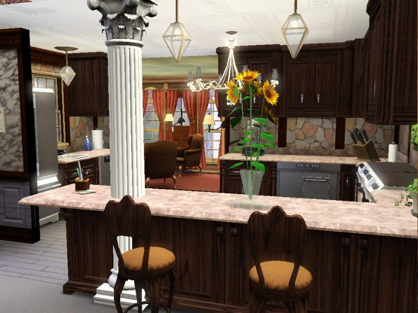 Mod the sims father 39 s wealth for Sims 2 kitchen ideas