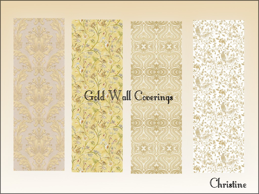 Mod The Sims - Gold Wall Coverings, Tile and Carpet