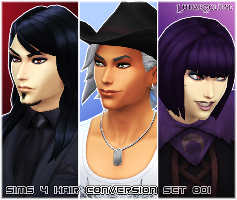 Download Shorter: ~*Eclipse [Sims 4 Hair Conversion Set 001