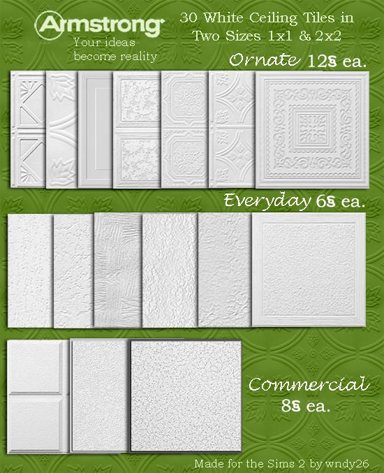Mod The Sims - 32 Armstrong Ceiling/Floor Tiles