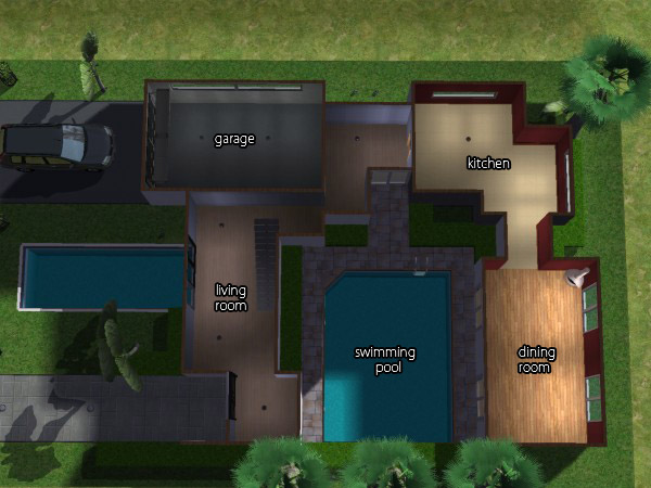 Mod the sims casa minimal minimalist house still d for Casa minimal