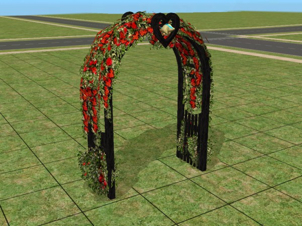 mod the sims requested black wedding arch