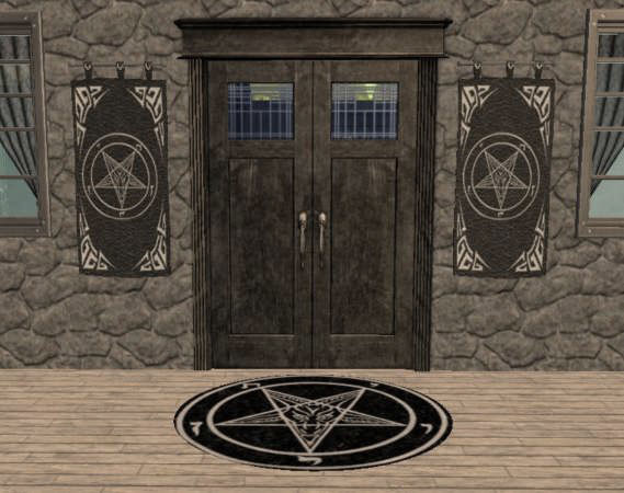 Mod The Sims Sigils Of Baphomet Lucifer Flags