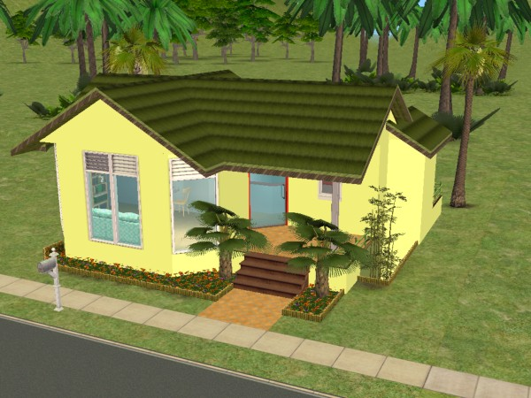 Mod the sims small homes tropical starter home all for Small starter homes