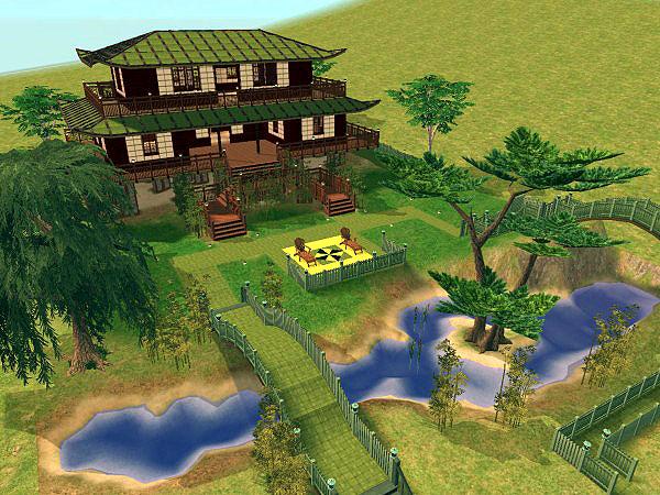 Mod the sims shodoku gardens pagoda for Garden room 5x3