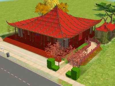 Mod The Sims Pagoda With Curved Roof V1 0