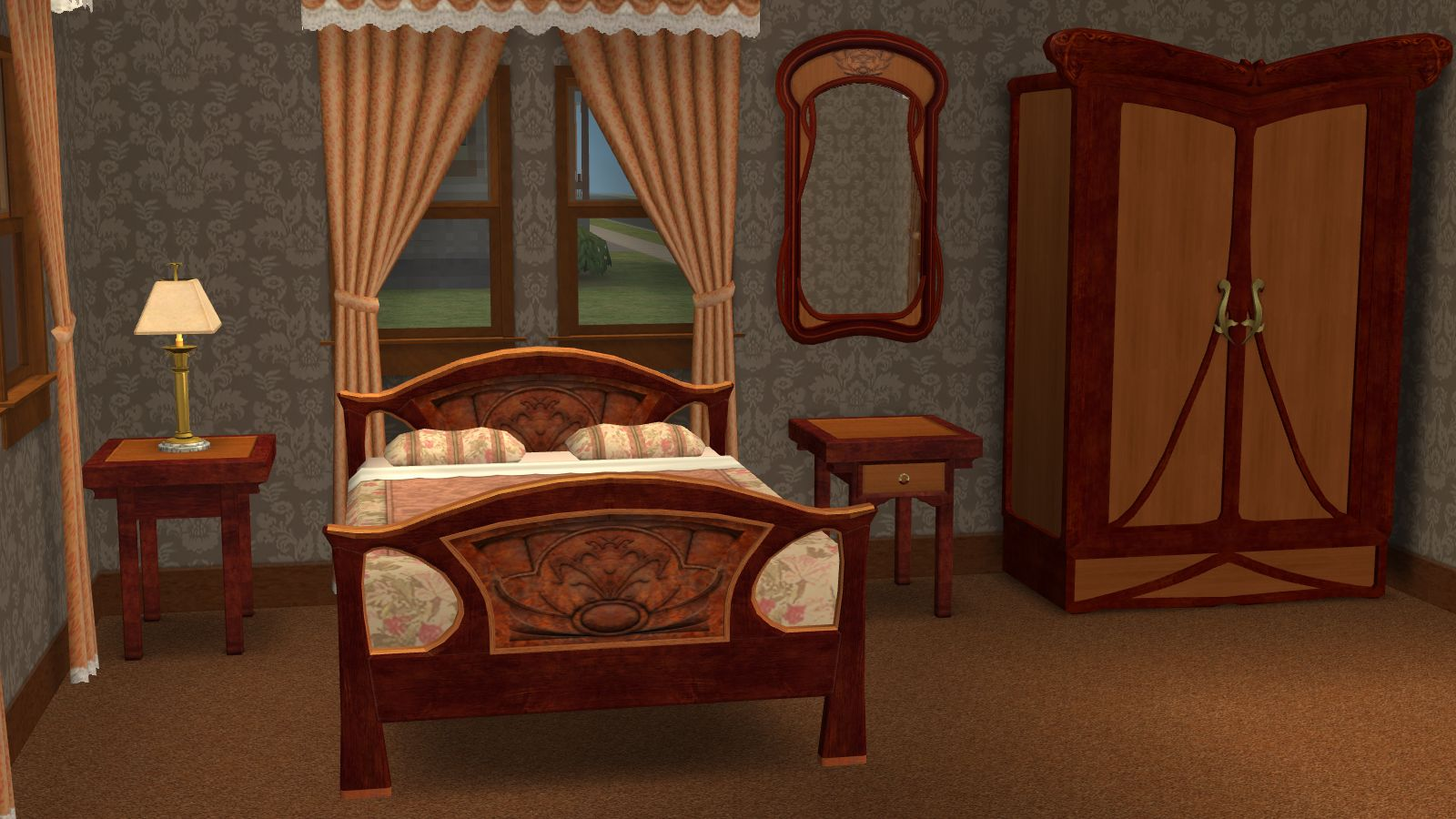 Mod The Sims - Recolors of Base Game Bedroom Furnitur in Art ...