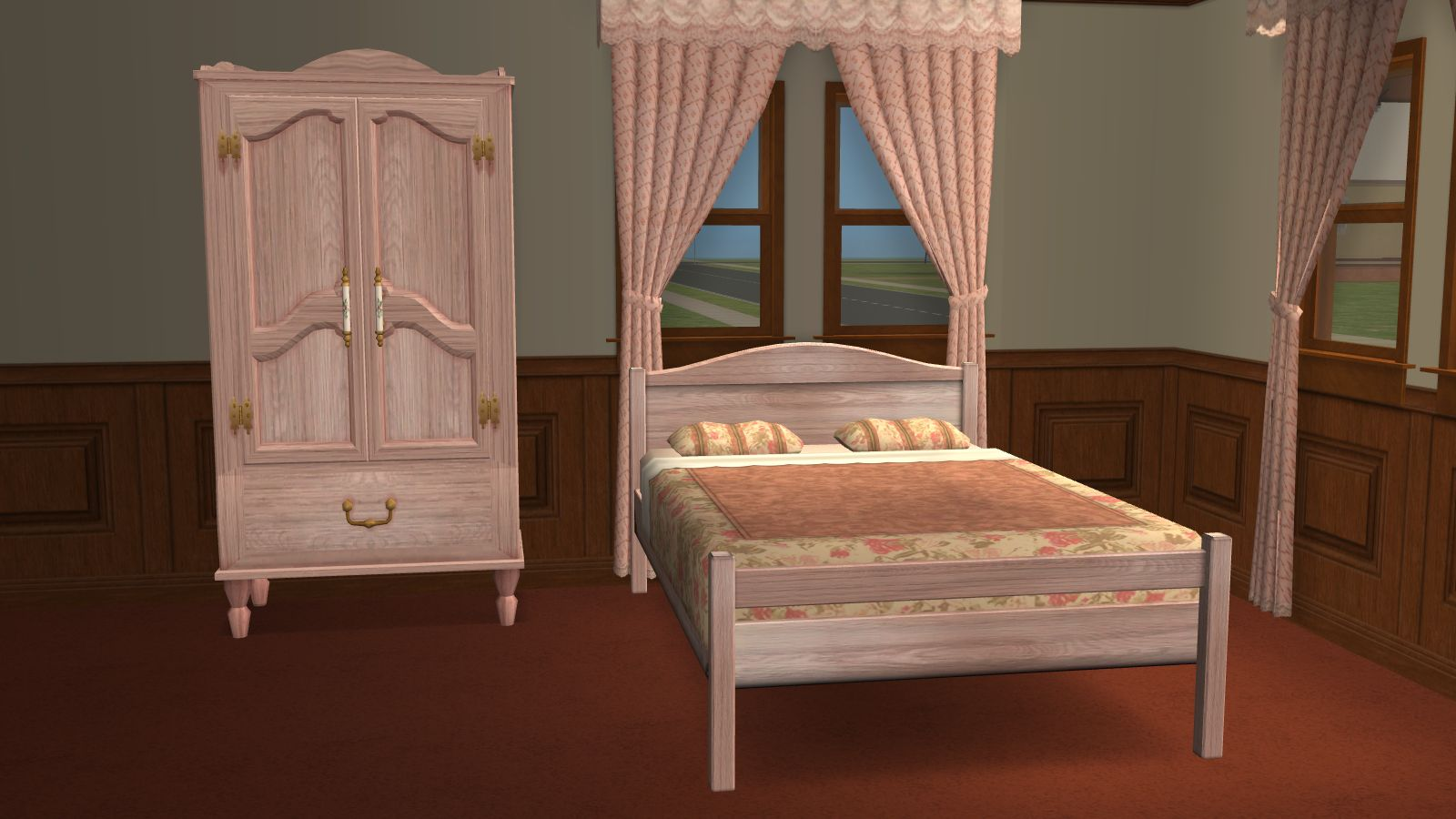 Mod the sims recolors of an ofb dresser matching cheap for Matching bed and dresser
