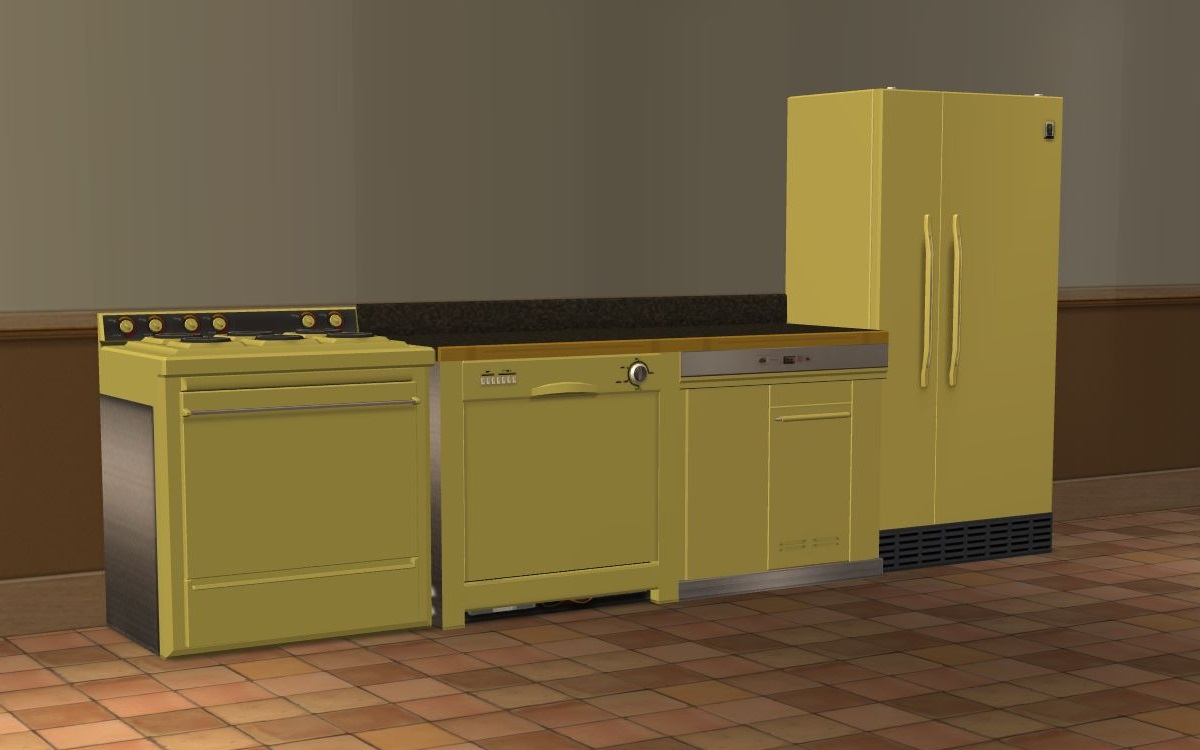 Matching Kitchen Appliances Mod The Sims Recolors Of Appliances Matching 2 Base Game