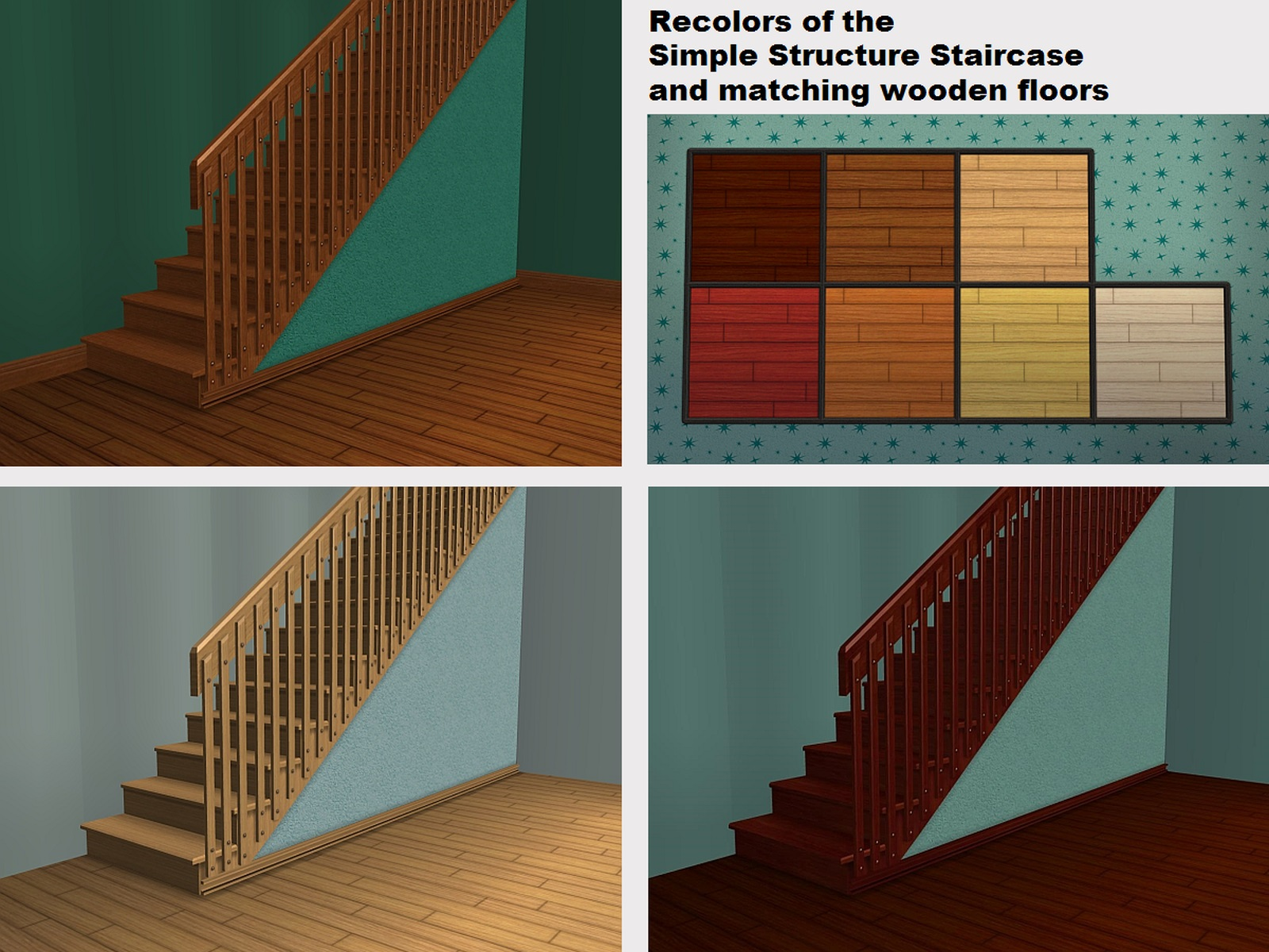 Mod The Sims Recolors of the Simple Structure Staircase and