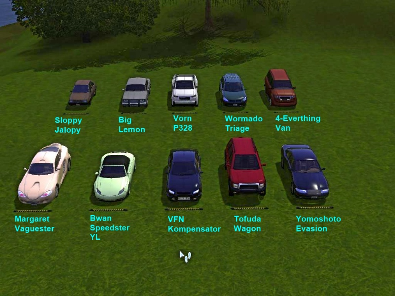 Mod The Sims - Cars for Community Lots *no longer needed* Buzzler\'s ...