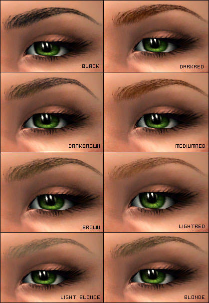 Mod The Sims Perfect Eyebrows