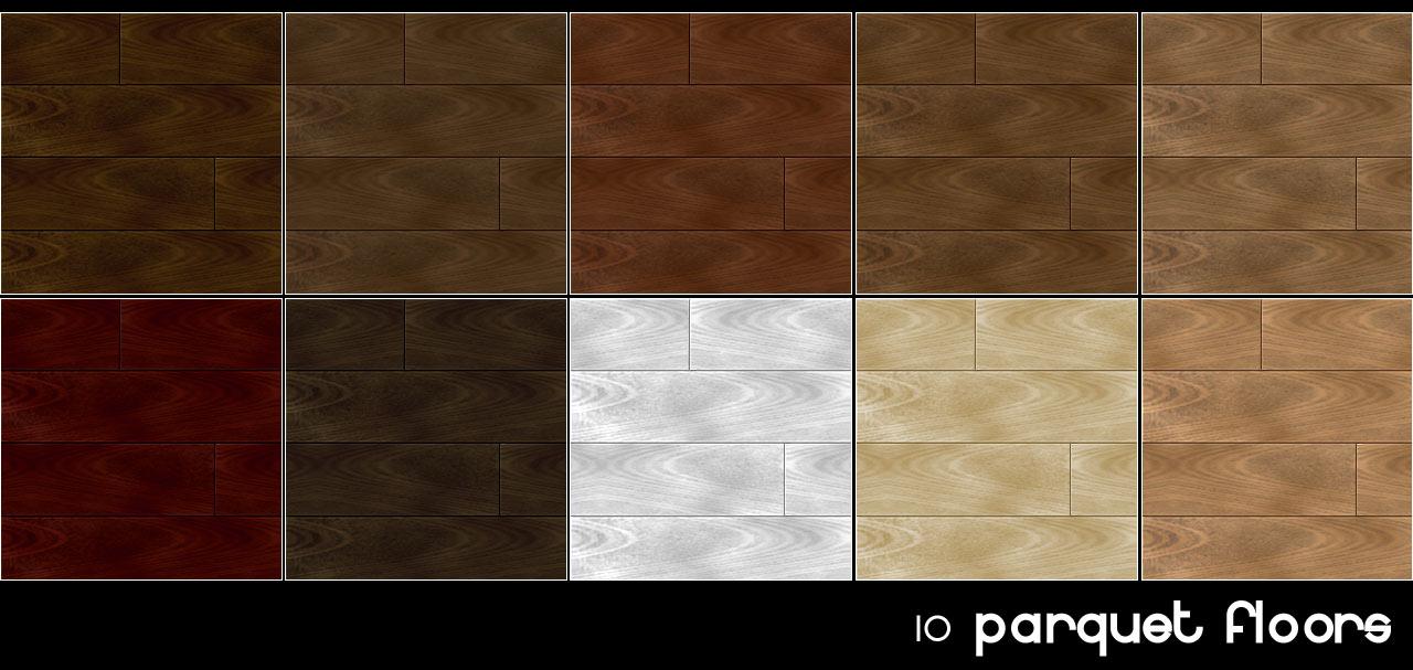 Mod The Sims - Parquet Floor (10 colors)