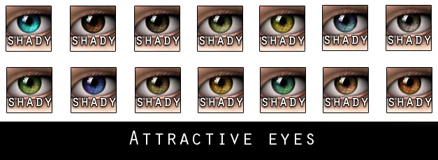 mod the sims attractive eyes 18 colors set