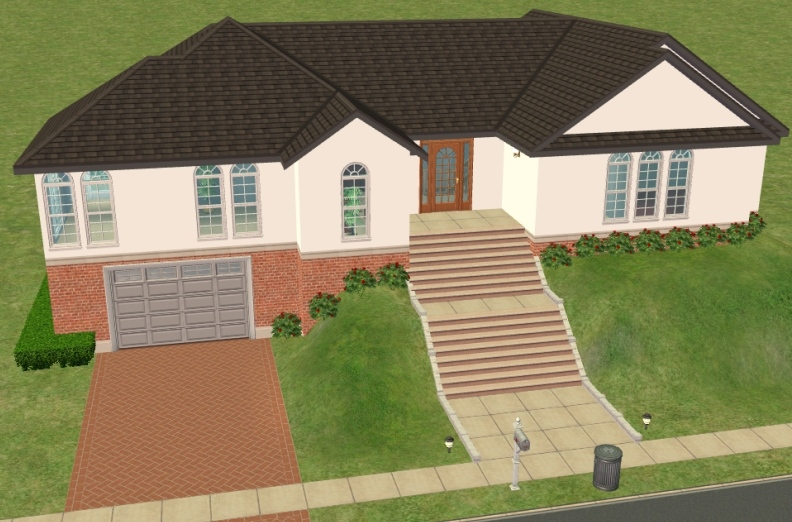Mod The Sims Hillside House With Basement Garage NO CC