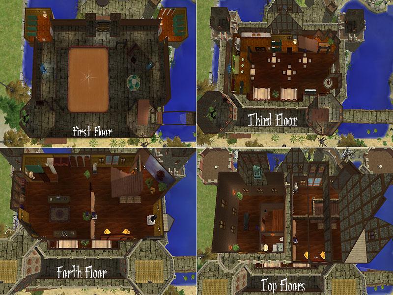 sims 2 castle floor plan - the ground beneath her feet