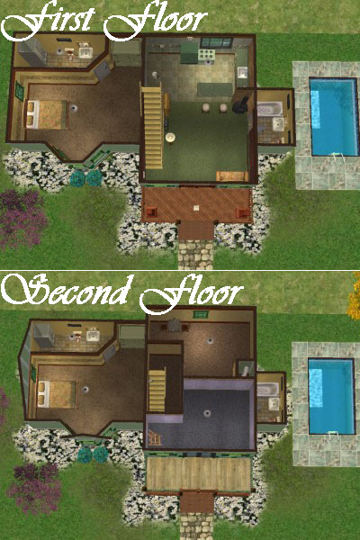 Mod the sims woodland starter sims 2 only for Sims 2 house designs floor plans