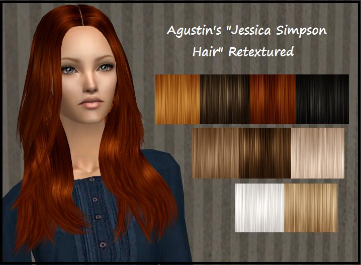 Hairstyles Video Download : Mod The Sims - Agustins Jessica Simpson Hair Retextured