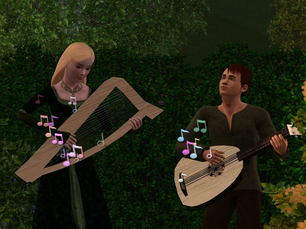 Buy A Harp >> Mod The Sims - Minstrel Me – Playable Harp and Lute (Medieval Challenge)