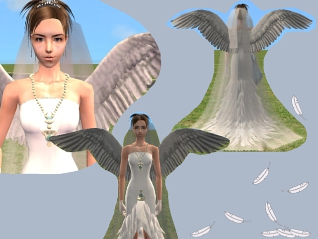 Mod The Sims Yuna In Her Weddingdress Ffx Please Download Again