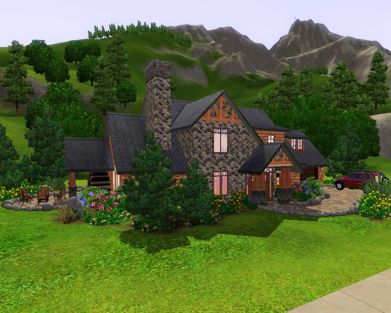 Mod the sims mountain retreat for Mtn house