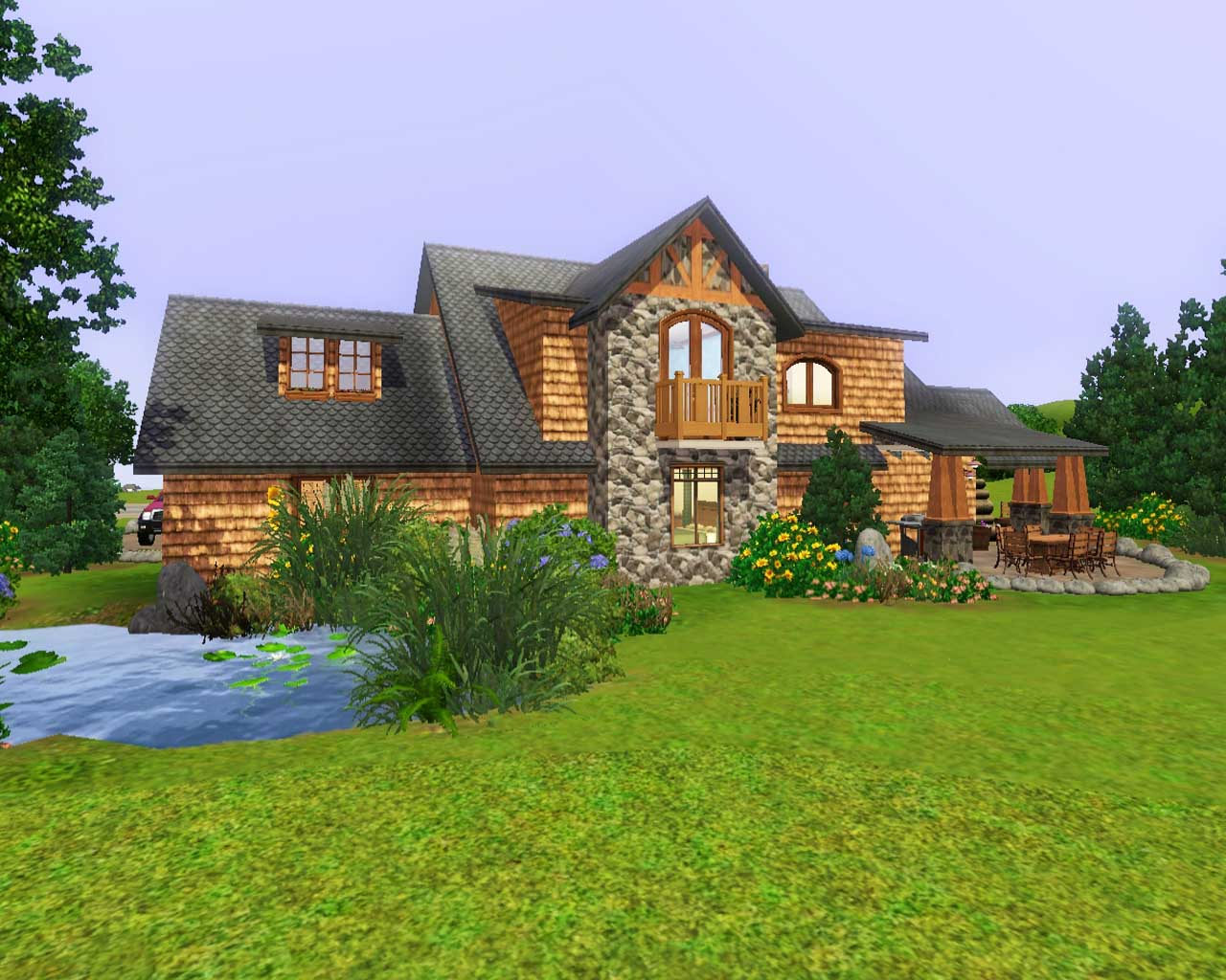 Mod the sims mountain retreat for Retreat house