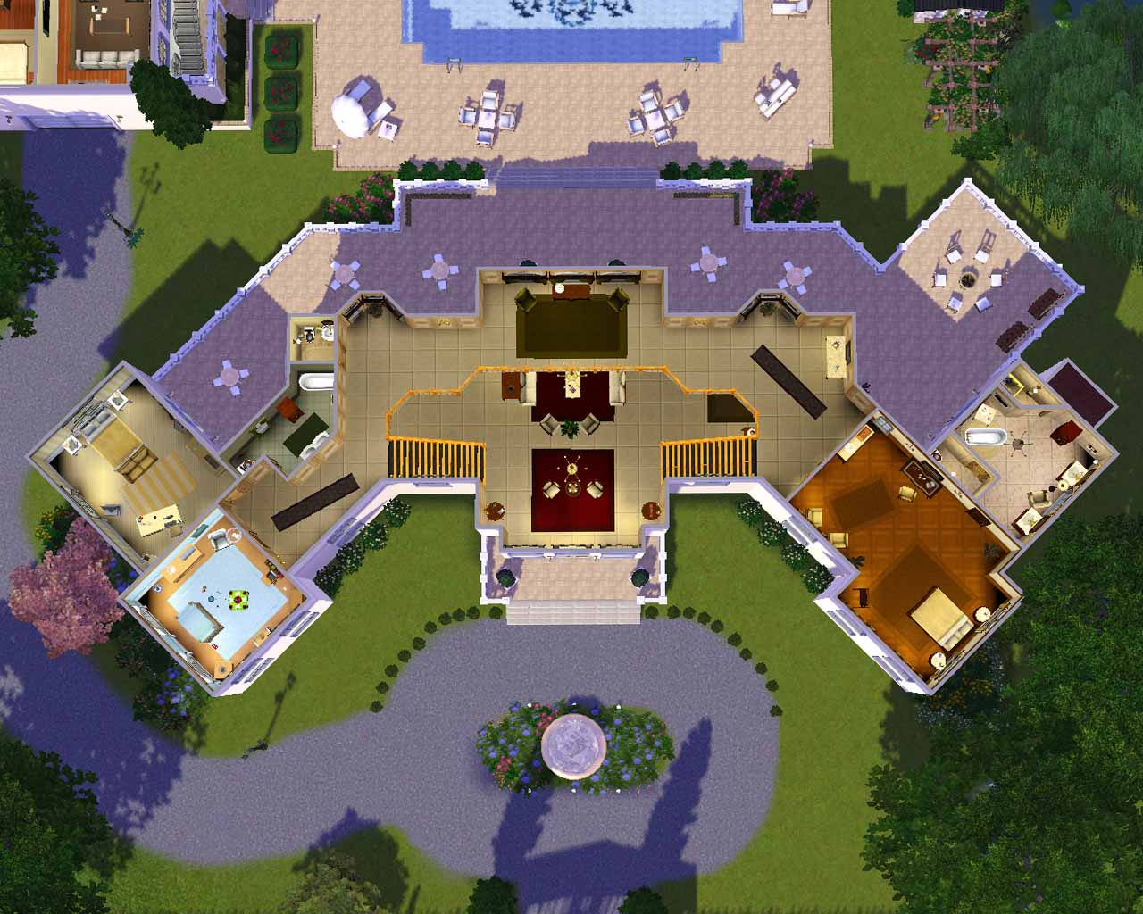 Mod the sims the manor estate for Mansion floor plans sims 4