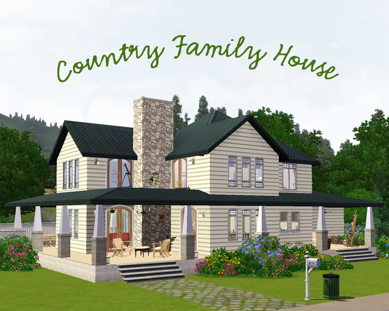 Mod the sims country family house for The family house